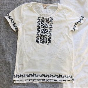 Like New J. Crew Factory Peasant Style Top